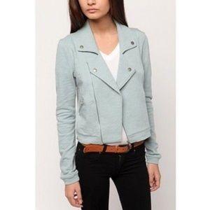 Yaya Nom De Plume Cotton Moto Jacket // S